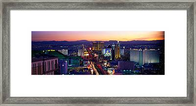 The Strip, Las Vegas, Nevada, Usa Framed Print by Panoramic Images