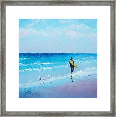The Surfer Framed Print by Jan Matson