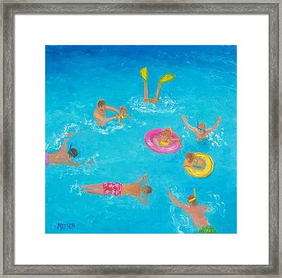 The Swimmers Framed Print by Jan Matson
