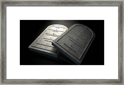 The Ten Commandments Framed Print by Allan Swart