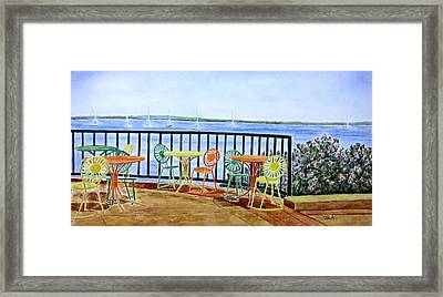 The Terrace View Framed Print by Thomas Kuchenbecker