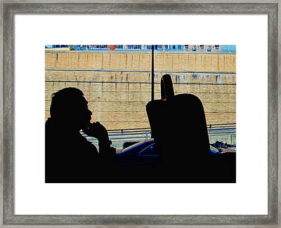 The Thinker Framed Print by Allen Beatty