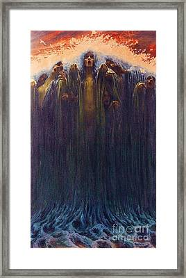 The Wave Framed Print by Pg Reproductions