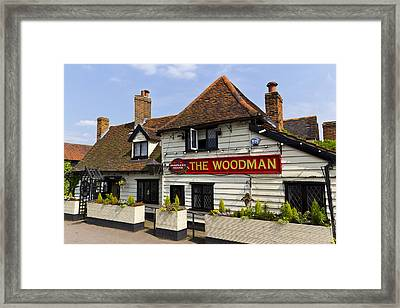 The Woodman Pub Framed Print by David Pyatt
