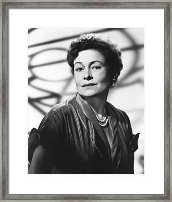 Thelma Ritter, Ca. Mid-1950s Framed Print by Everett