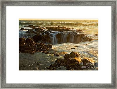 Thor's Well Framed Print by Nick  Boren