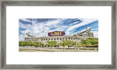 Tiger Stadium Panorama Framed Print by Scott Pellegrin