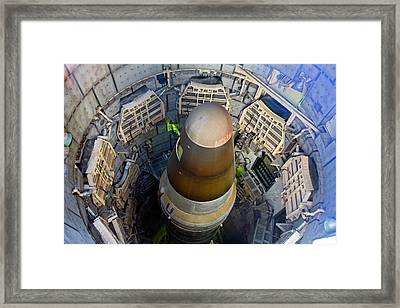 Titan Missile In Silo Framed Print by Jim West