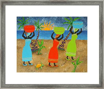 To Market Framed Print by Pamela Allegretto