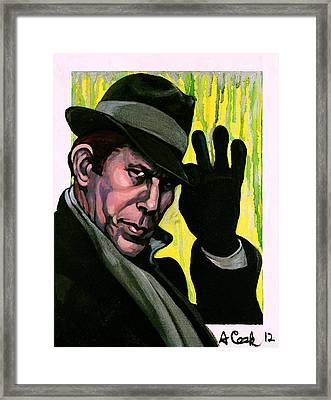 Tom Waits Framed Print by Adam B Cook