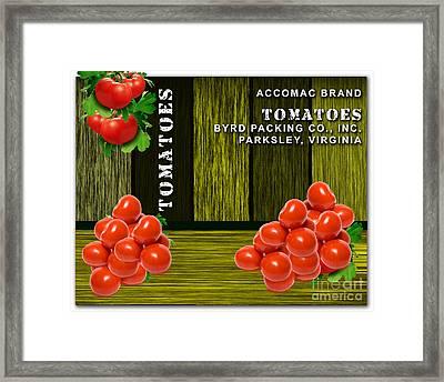 Tomato Farm Framed Print by Marvin Blaine