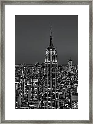 Top Of The Rock Bw Framed Print by Susan Candelario