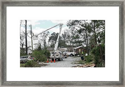 Tornado Damage Framed Print by Jim Edds