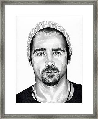 Total Recall  Colin Farrell Framed Print by Fred Larucci