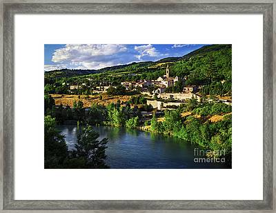 Town Of Sisteron In Provence Framed Print by Elena Elisseeva