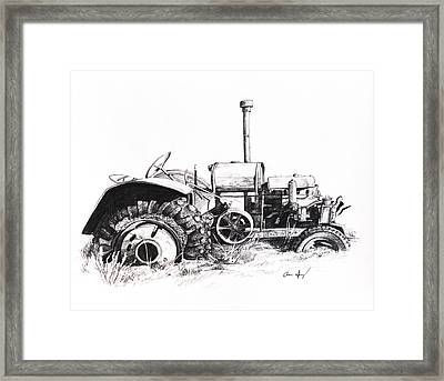 Tractor Framed Print by Aaron Spong