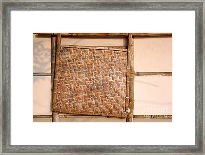 Traditional Chinese Bamboo Structure Framed Print by Yali Shi