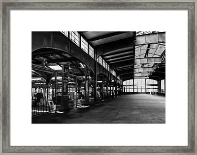 Train Station Framed Print by Wayne Gill