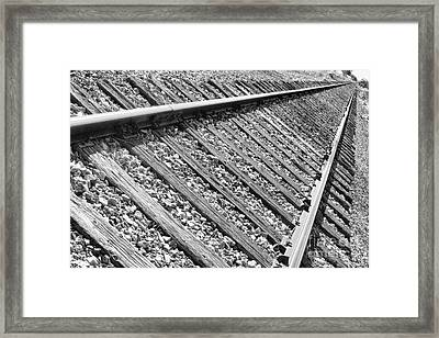 Train Tracks Triangular In Black And White Framed Print by James BO  Insogna