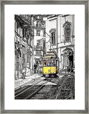 Lisbon Tram 28 Framed Print by Marion McCristall