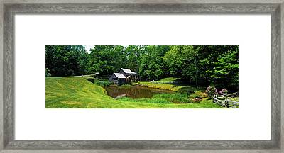 Trees Around A Watermill, Mabry Mill Framed Print by Panoramic Images