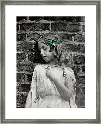 Tribute To Lewis Carroll Framed Print by Donatella Muggianu