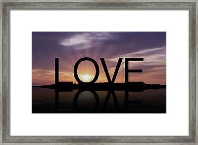 Tropical Sunset Framed Print by Aged Pixel