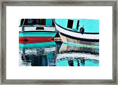 Turquoise Framed Print by Werner Lehmann