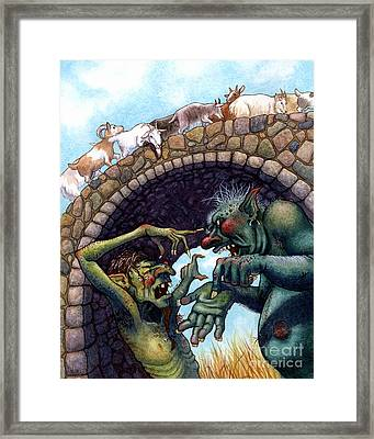 2 Ugly Trolls Framed Print by Isabella Kung