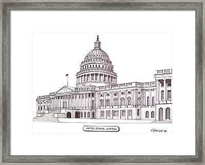 United States Capitol Framed Print by Frederic Kohli