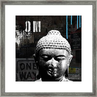 Urban Buddha  Framed Print by Linda Woods