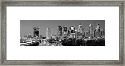Us, Pennsylvania, Philadelphia Skyline Framed Print by Panoramic Images