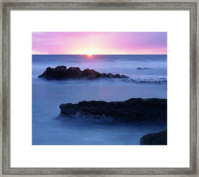 Usa, California, San Diego, Sunset Framed Print by Jaynes Gallery