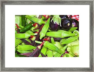 Usa, Georgia, Savannah, Fresh Organic Framed Print by Joanne Wells