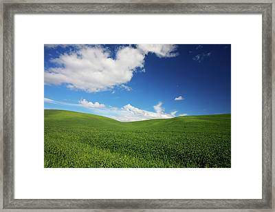 Usa, Washington State, Palouse Country Framed Print by Terry Eggers