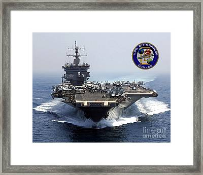Uss Enterprise Framed Print by Baltzgar