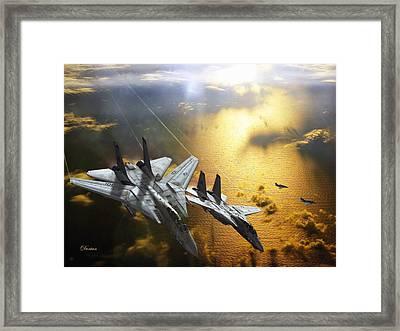2 V 2 Framed Print by Dorian Dogaru