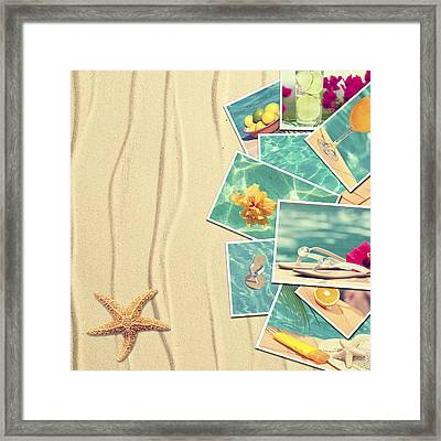 Vacation Postcards Framed Print by Amanda And Christopher Elwell
