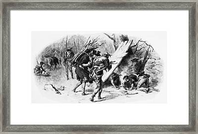 Valley Forge: Huts, 1777 Framed Print by Granger