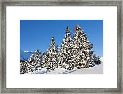 Valley Gaistal With Snow During Deep Framed Print by Martin Zwick