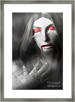 Vampire Framed Print by Jorgo Photography - Wall Art Gallery