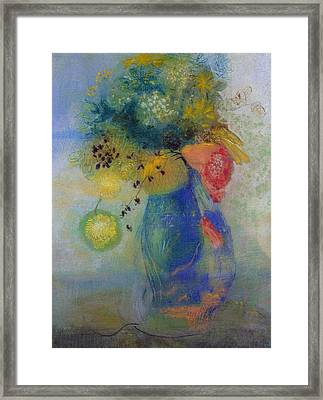 Vase Of Flowers Framed Print by Odilon Redon