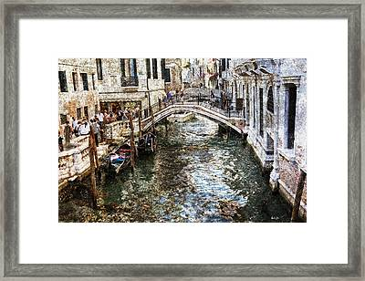 Venice Canal Framed Print by Madeline Ellis