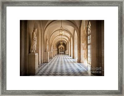 Versailles Hallway Framed Print by Inge Johnsson
