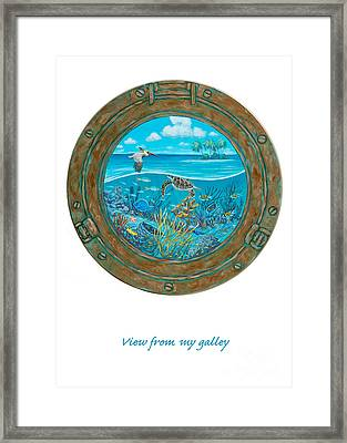 View From My Galley Framed Print by Danielle  Perry