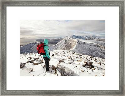 View West Into The Cuillins Framed Print by Ashley Cooper