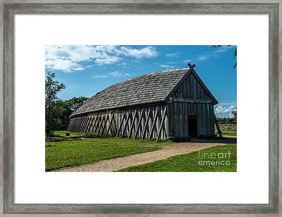 Vikings Framed Print by Jorgen Norgaard