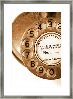 Vintage Telephone Framed Print by Jorgo Photography - Wall Art Gallery