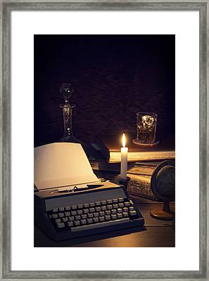 Vintage Typewriter Framed Print by Amanda And Christopher Elwell