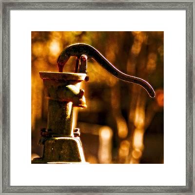Vintage Water Pump Framed Print by Jim Finch